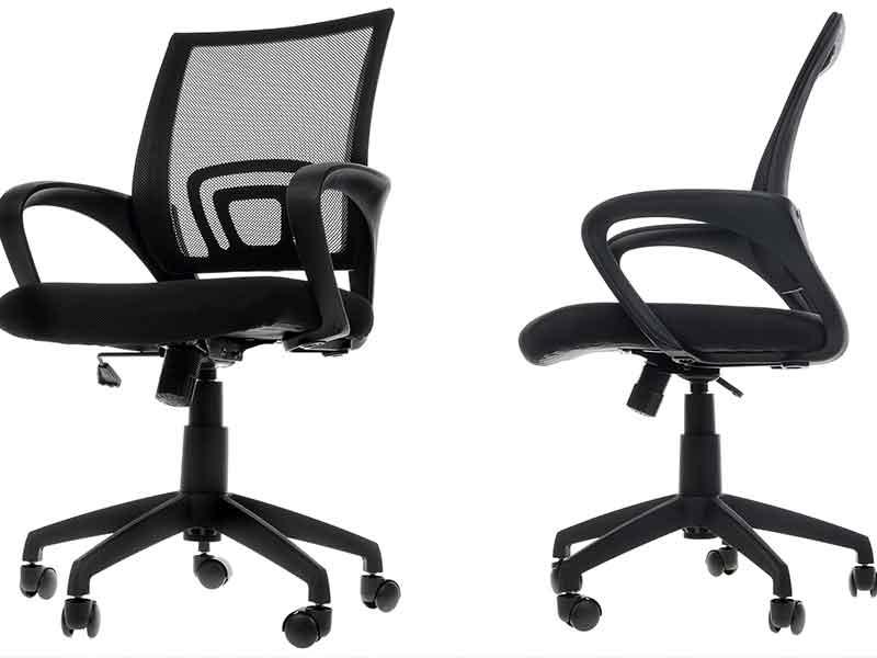 Черные офисные стулья из ПБТ или ПЭТ
