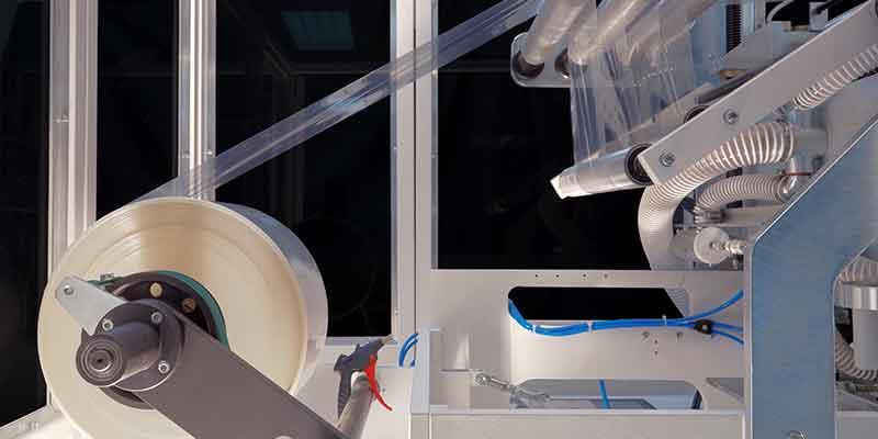 Prozessteil zum Aufwickeln der Folie in einem Kalander-Aufbereitungssystem