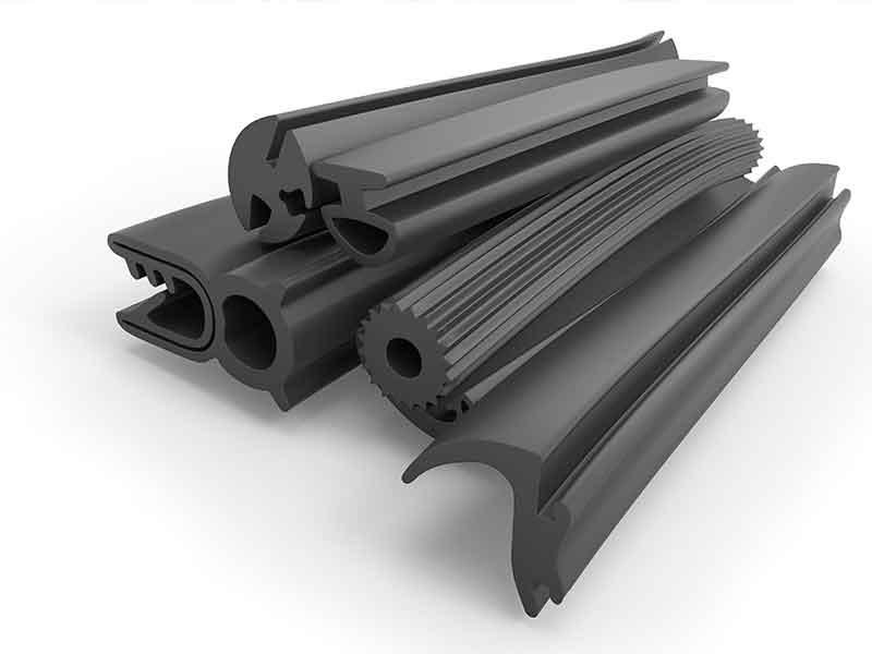 熱可塑性エラストマー(TEP)による黒色ケーブルレール