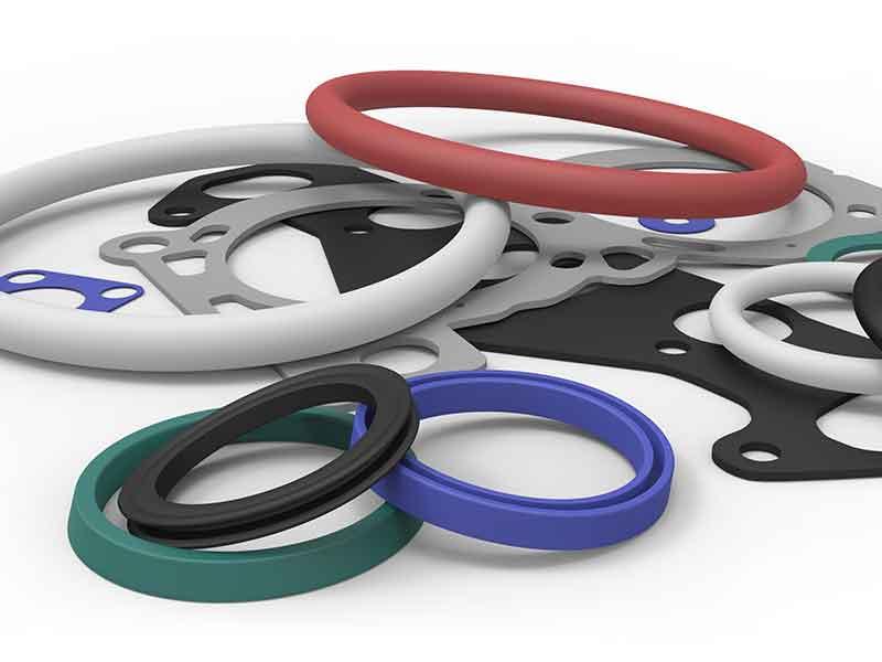 熱可塑性エラストマー(TPE)による様々な色のシールリング