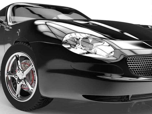 Schwarzes Auto als Beispiel für faserverstärkte Kunststoffe durch frtp compounding