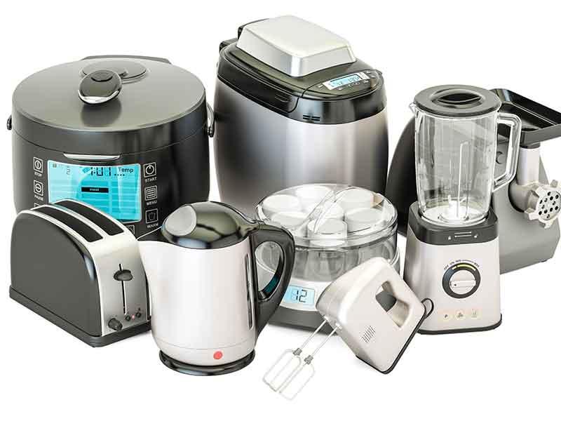 Los plásticos reforzados con fibras, fabricados con los sistemas de preparación de compuestos FRT, son a menudo utilizados para todo tipo de aparatos de cocina.