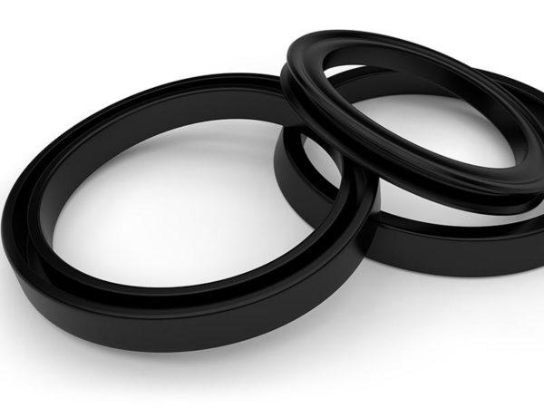 ゴム・コンパウンド製の黒色シーリングリング